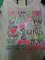 Girls can change the world tee