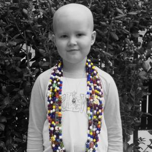 Tatum and her beads