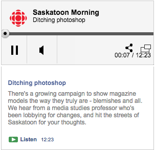 CBC Radio Saskatoon Morning: Ditching Photoshop with Rebecca Hains